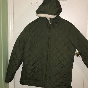 Sherpa type old navy jacket